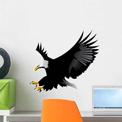16'h Eagle (Eagle Wall Decal by Wallmonkeys Peel and Stick Graphic (18 in W x 16 in H) WM30020)