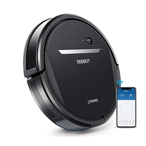 ECOVACS OZMO 601 Self-Charging Robot Mop & Vacuum w/Smart Phone App Controls, Auto-Clean Mode, 2 Specialized Cleaning Modes, Digital Mop for Pet Hair, Dirt, Dried Liquids & Hard ()
