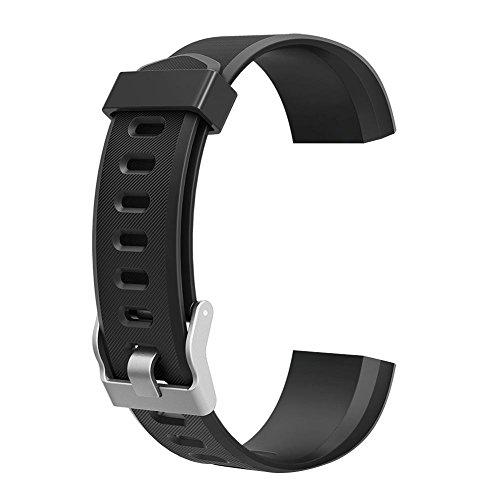 Asiproper Armband Ersatz Zubehör für ID115Plus HR Smart Watch (Schwarz)