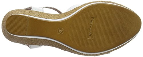 Tamaris 28394 - Sandalias de vestir de material sintético para mujer Mehrfarbig (WHITE/SNAKE C. 133)