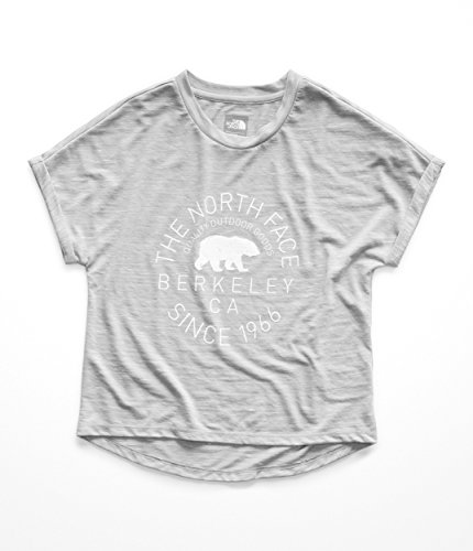 (The North Face Kids Girl's Long and Short of It Tee (Little Kids/Big Kids) Mid Grey Heather Small)