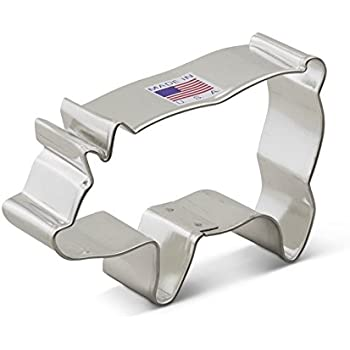 Ann Clark Pig Cookie Cutter - 3.75 Inches - Tin Plated Steel