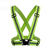 Leoie Adjustable Reflective Safety Vest, V-Shape Luminous Elastic Belt For Outdoor Running Cycling Sports
