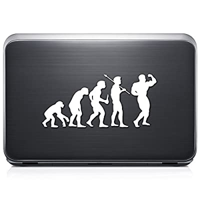 Theory Of Evolution Bodybuilding Muscle REMOVABLE Vinyl Decal Sticker For Laptop Tablet Helmet Windows Wall Decor Car Truck Motorcycle