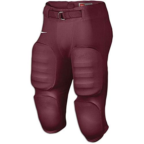 Nike Mens Defender Game Football Pant Cardinal Red Maroon White Size Large ()