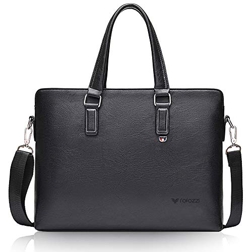 Leather Laptop Briefcase Office Bag Fits 15.6 inch]()