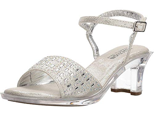 Kenneth Cole REACTION Girls' Cind-r-Ella Jewel, Silver, 2 Medium US Little Kid