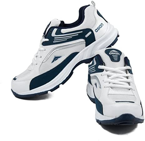 Buy Asian Shoes Men's White \u0026 Nevy Blue