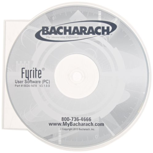 - Bacharach 0024-1470 PC Software Installer CD for Fyrite InTech Combustion Gas Analyzer