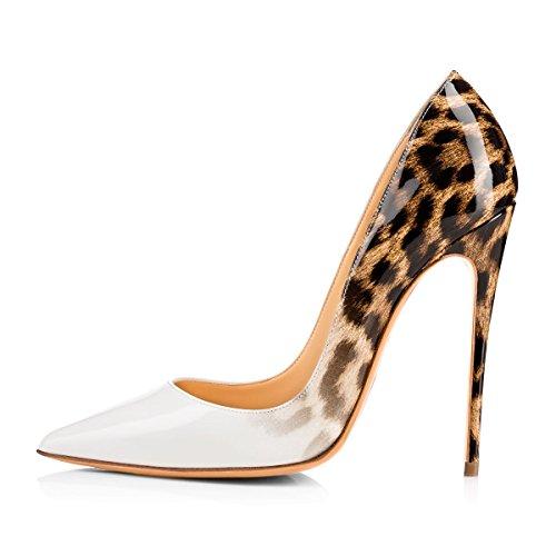 Femme Blanc Ubeauty Taille Talon Femmes Talons Aiguille Escarpins Chaussures Grande Stilettos wv7w86q