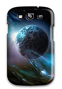 Galaxy S3 Case Cover Slim Fit Tpu Protector Shock Absorbent Case Space Art