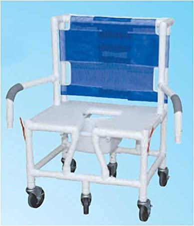 chair bariatric w seat u0026 dual droparms pvc