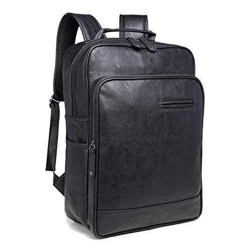 Los Handbag Cuaderno Bolso Mochila Piel Ocasional Portátil Ordenador Pu Black Del La Hombres De 4Ta4P