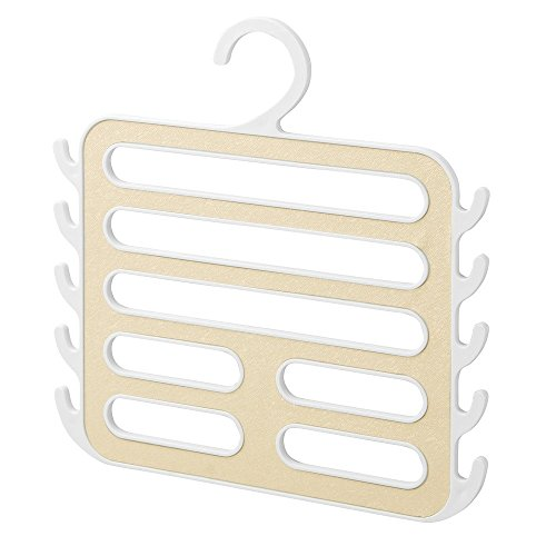 InterDesign Remy Closet Organizer Hanger For Camisoles, Scarves, Pashminas, Accessories - White/Gold