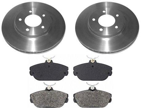 (Front Metallic Brake Pad & Rotors Kit Set for Ford Taurus Mercury Sable)