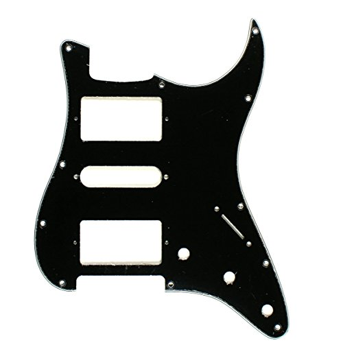3 Ply Guitar Pickguard For Fender Stratocaster Strat HSH Pickups -BLACK (B29)