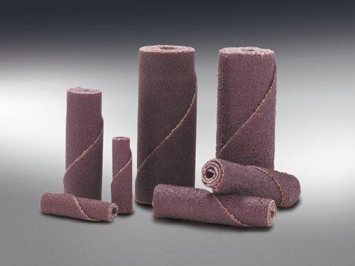 Merit Abrasive Cartridge Roll, Aluminum Oxide, 1/8'' Arbor, Roll 1/2'' Diameter x 1'' Length, Grit 120 (Pack of 100)