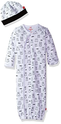 Magnificent Baby Newborn Magnetic Sack Gown and Hat Set