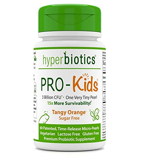 Hyperbiotics PRO-Kids - 60 Tiny Sugar Free Once Daily Time-Release Pearls for Kids Ages 3 and Up - Easy to Swallow and 15x More Survivability than Capsules - Recommended with Vitamins (Best Over The Counter For Stomach Flu)