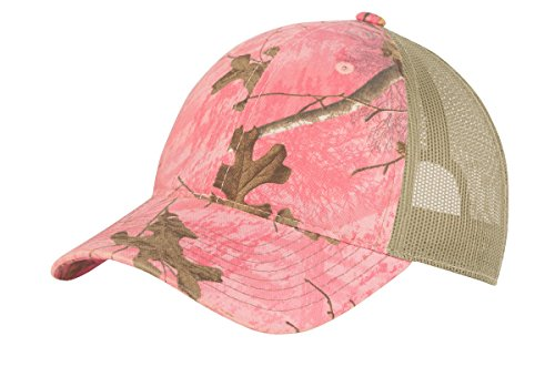 TOP HEADWEAR Unstructured Camouflage Mesh Back Cap - Realtree Xtra Pink/Tan