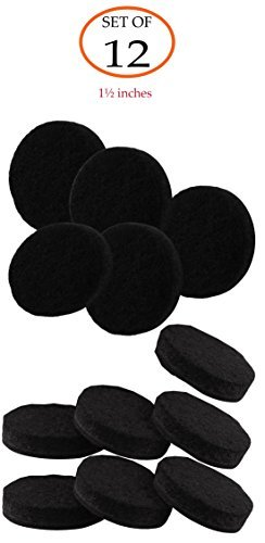 753a4a99426 Heavy Duty Self-Adhesive Round Felt Protective Pads for Furniture Feet  (Black) -