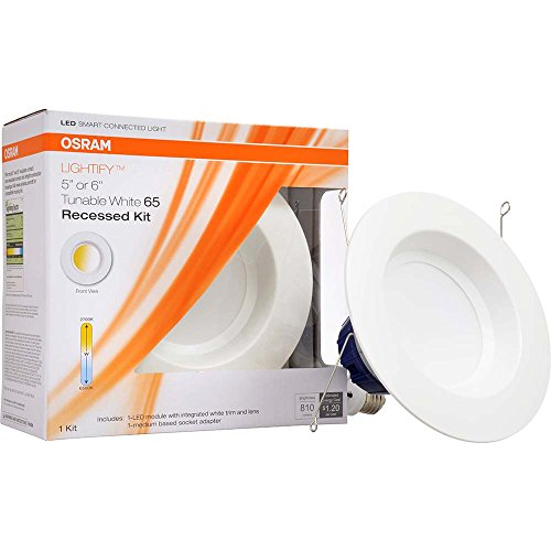 SYLVANIA SMART+ ZigBee Adjustable White RT 5/6 Recessed Lighting Kit, Works with SmartThings and Amazon Echo Plus, Hub Needed for Amazon Alexa and the Google Assistant