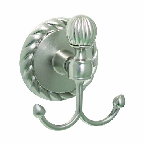MODONA 6954-A-N Double Robe/Towel Hook Satin Nickel, Victoria 80%OFF