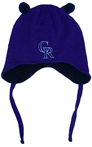 Colorado Rockies Toddler Mouse Ears Knit Beanie With Tassels Hat Cap Apperal Boys And Girls