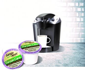 Gargle Away by Nature's Jeannie - Natural Sore Throat Remedy, Vocal Care, Mucus Relief, Cough Suppressant Meidicine for Kids and Adults in K-Cups