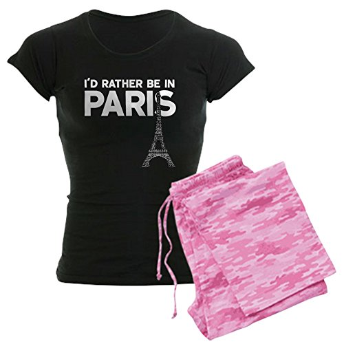 (CafePress - I'd Rather Be in Paris - Womens Novelty Cotton Pajama Set, Comfortable PJ)