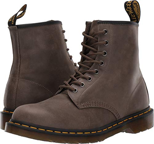 Dr. Martens Men's 1460 8 Eye Boots, Olive Dusky, Grey, 10 M US
