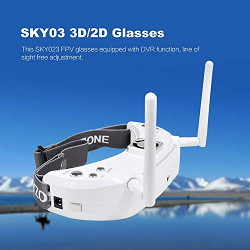 Wikiwand SKYZONE SKY03 3D/2D Glasses 5.8G 48CH Diversity Receiver FPV Goggles DVR by Wikiwand (Image #3)