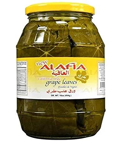 Amazon Com California Style Grape Leaves Alafia 2lb Jar Dr Wt 16oz Pickle Relishes Grocery Gourmet Food