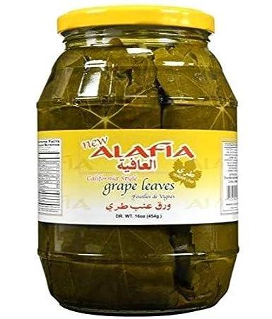 Amazon Com California Style Grape Leaves Alafia 2lb Jar Dr Wt 16oz Pickle Relishes Grocery Gourmet Food