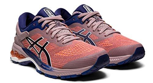 (ASICS Women's Gel-Kayano 26 Running Shoes, Violet Blush/Dive Blue, 8 M US )