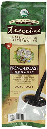 Roast Coffee Free - Teeccino Caffeine Free Herbal Coffee - Maya French Roast - 11 oz