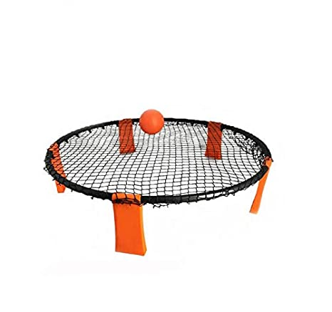 NTS 3 Bolas al Aire Libre cé sped de Playa Spikeball, Voleibol Spike Game (Orange)
