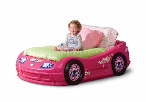 Amazon Com Little Tikes Princess Pink Toddler Roadster Bed Toys