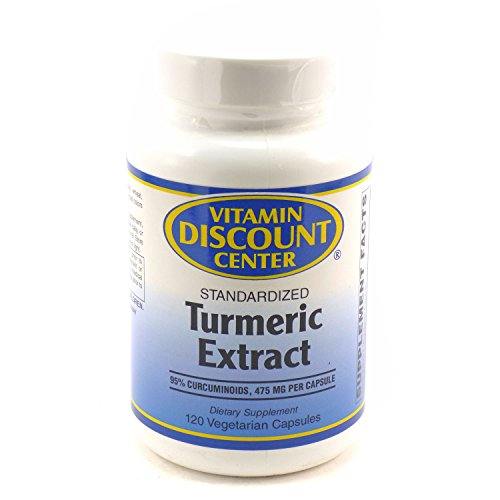 41uBk308MUL - Vitamin Discount Center - Turmeric Extract - Can help with digestion, can help regulate cholesterol, and may improve skin and joint health - 120 Capsules