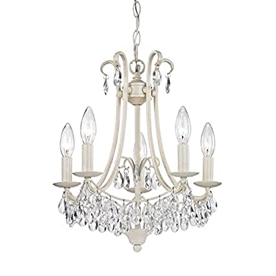 Sterling Home 122-021 Mini Chandelier, Cream/Clear