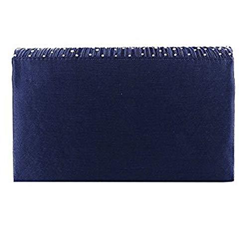 Sera Frizione Nozze Per blue Donna Da Da In Raso Borsa Gshe Della Pochette White Buste Busta Borse Di Con Bag PfxZTqw