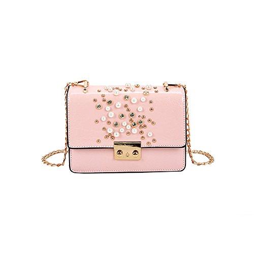 Pink Sauvage Rivet Vert Bandoulière nbsp; Chaîne À Sac nbsp; Sac Meaeo Main nbsp;Mode À Sac Bandoulière tqaA7Z