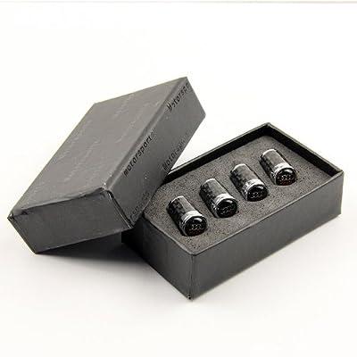 Carbon Fiber Car Air Tire Valve Caps for Audi by AED: Automotive
