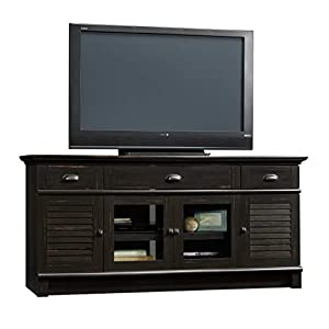 """Sauder Harbor View Credenza, For TVs up to 70"""", Antiqued Paint Finish"""