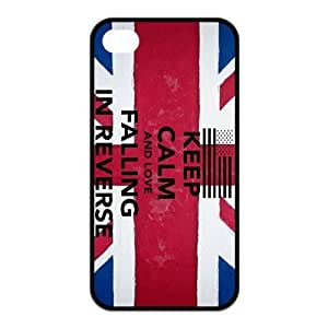 Falling In Reverse Pattern Design Solid Rubber Customized Cover Case for iPhone 4 4s 4s-linda153