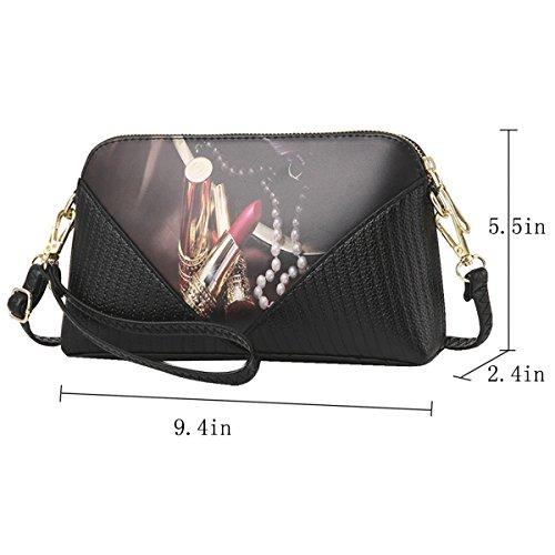 Millya - Bolso mochila  para mujer, negro (Negro) - bb-01842-02C negro