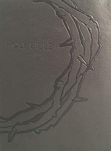 Holy Bible: KJV Sword Study, Red Letter, Margin Study Guide, Giant Print, Designer Charcoal Crown of Thorns