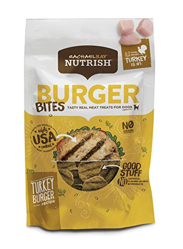 Rachael Ray Nutrish Burger Bites Grain Free Dog Treats, Turkey Burger Recipe, 12 Oz.