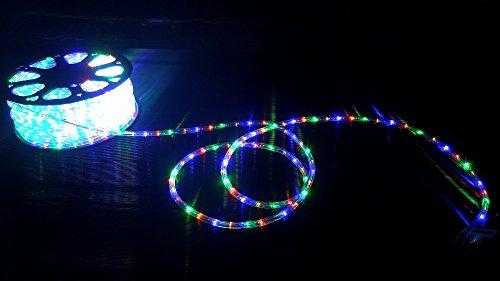 Tubo led luminoso 50 mt per esterno multicolor luci natale addobbi