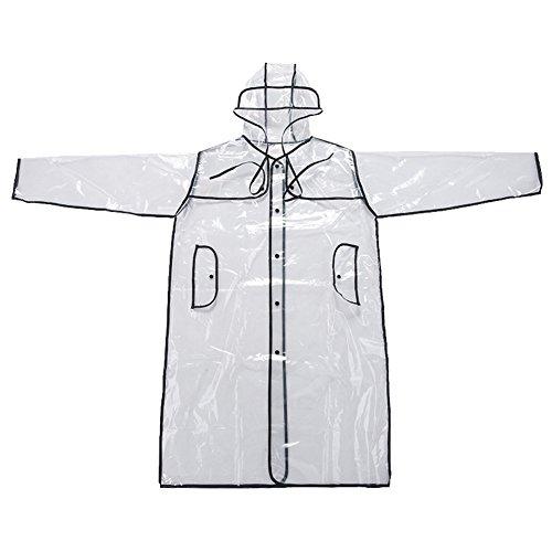 Mengsha's Transparent Fashionable Vinyl Women's Raincoat Run